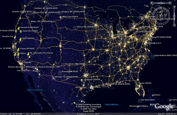 New Map Of The Earths Night Lights GIS Lounge New Map Of The - Us light pollution map