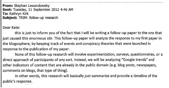 the ethics application for lewandowsky s fury 171 climate