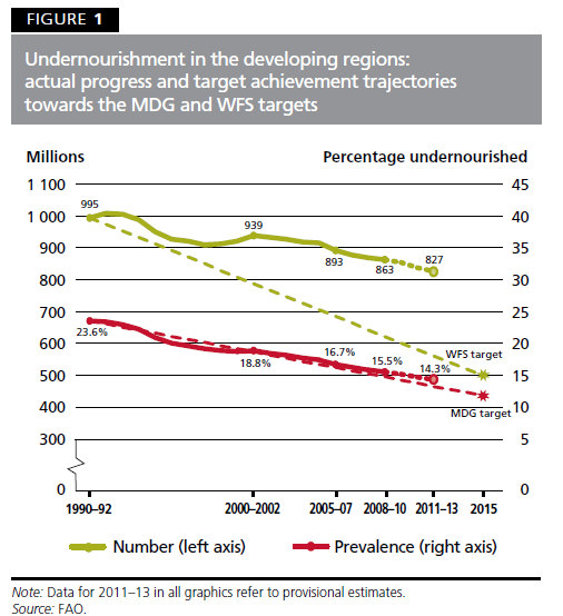 fao 2013 undernourished