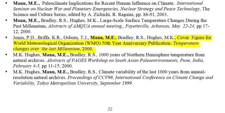 mann cv excerpt showing wmo 1999